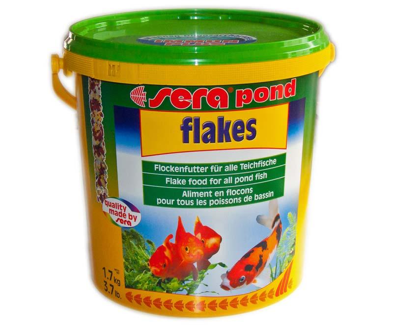 Sera pond flakes 10 l teich filter for Kleine teichfische