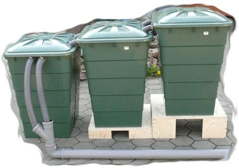 Regentonne Rechteckig 300 Liter Teich Filter