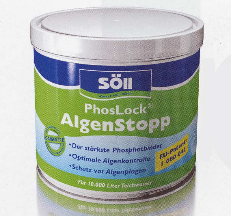 S ll phoslock algenstopp 1000 g teich filter for Fadenalgen entfernen