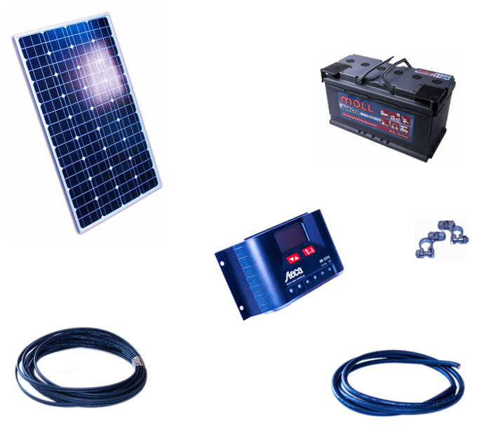 solar insell sung 12v 100w st r teich filter. Black Bedroom Furniture Sets. Home Design Ideas