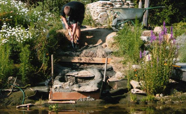 wasserfall selber bauen - teich-filter, Gartengestaltung